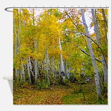 Autumn Yellow Shower Curtain