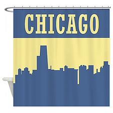 Retro Chicago Shower Curtain