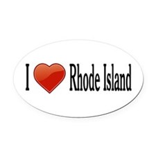 I Love Rhode Island Oval Car Magnet