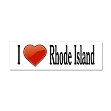 I Love Rhode Island Car Magnet 10 x 3