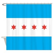 Chicago Flag Shower Curtain
