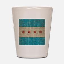 Vintage Chicago Flag Shot Glass