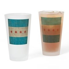 Vintage Chicago Flag Drinking Glass