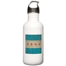 Vintage Chicago Flag Sports Water Bottle