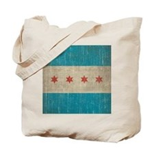Vintage Chicago Flag Tote Bag