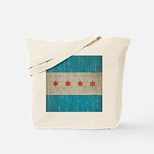 Vintage Chicago Flag Tote Bag