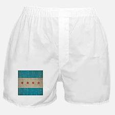 Vintage Chicago Flag Boxer Shorts