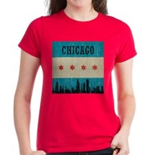 Vintage Chicago Skyline Tee