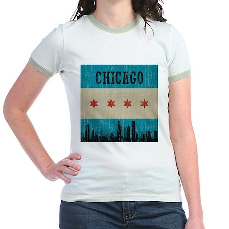 Vintage Chicago Skyline Jr. Ringer T-Shirt