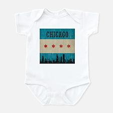 Vintage Chicago Skyline Infant Bodysuit