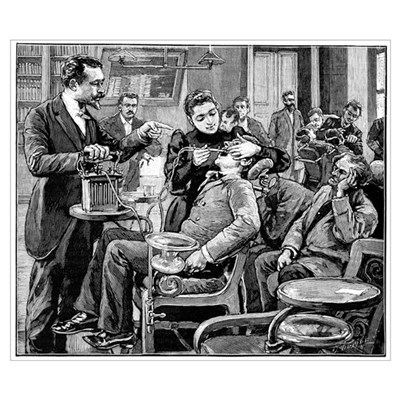 Dental surgery, 19th century Poster