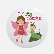 Big Cousin - Butterfly Ornament (Round)