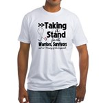 Taking a Stand Mesothelioma Fitted T-Shirt