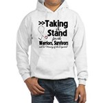 Taking a Stand Mesothelioma Hooded Sweatshirt
