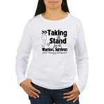 Taking a Stand Mesothelioma Women's Long Sleeve T-