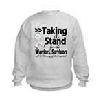 Taking a Stand Mesothelioma Kids Sweatshirt