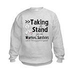 Taking a Stand Mesothelioma Kids Sweatshirt