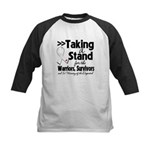Taking a Stand Mesothelioma Kids Baseball Jersey