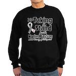 Taking a Stand Mesothelioma Sweatshirt (dark)