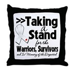 Taking a Stand Mesothelioma Throw Pillow