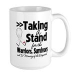 Taking a Stand Mesothelioma Large Mug