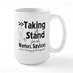 Taking a Stand Mesothelioma Large Mug
