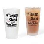 Taking a Stand Mesothelioma Drinking Glass