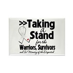 Taking a Stand Mesothelioma Rectangle Magnet