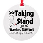Taking a Stand Mesothelioma Round Ornament