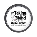 Taking a Stand Mesothelioma Wall Clock