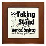 Taking a Stand Mesothelioma Framed Tile