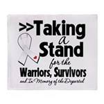 Taking a Stand Mesothelioma Throw Blanket