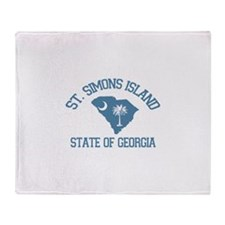 St. Simons GA - Map Design. Throw Blanket