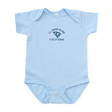 St. Simons GA - Map Design. Infant Bodysuit