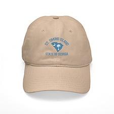 St. Simons GA - Map Design. Baseball Cap