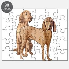 two redbone coonhounds Puzzle