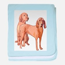two redbone coonhounds baby blanket