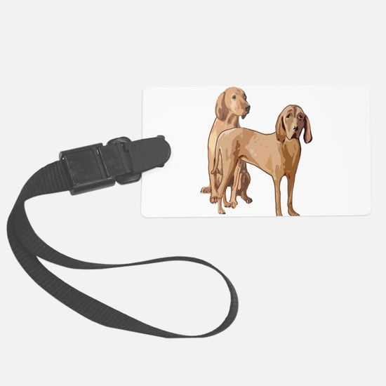 two redbone coonhounds Luggage Tag
