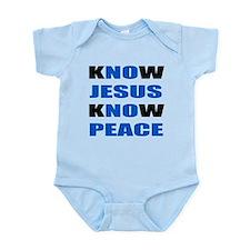 kNOw JESUS kNOw PEACE Onesie