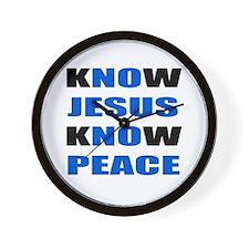 kNOw JESUS kNOw PEACE Wall Clock