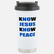 kNOw JESUS kNOw PEACE Travel Mug