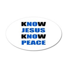 kNOw JESUS kNOw PEACE Wall Decal