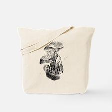 Two Tone Skull Tote Bag