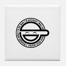 Laughing Man Tile Coaster