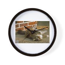 Caturday Catnip Wall Clock