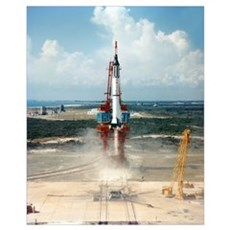 First US manned space flight, 1961 Canvas Art