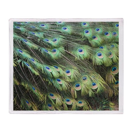 Helaine's Peacock Feathers Throw Blanket