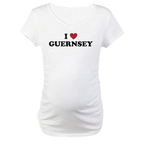 I Love Guernsey Maternity T-Shirt