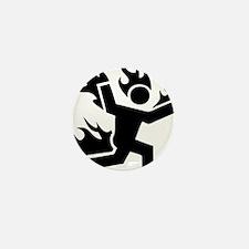 Man on Fire Mini Button