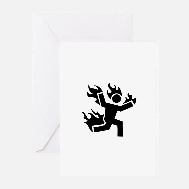 Man on Fire Greeting Card